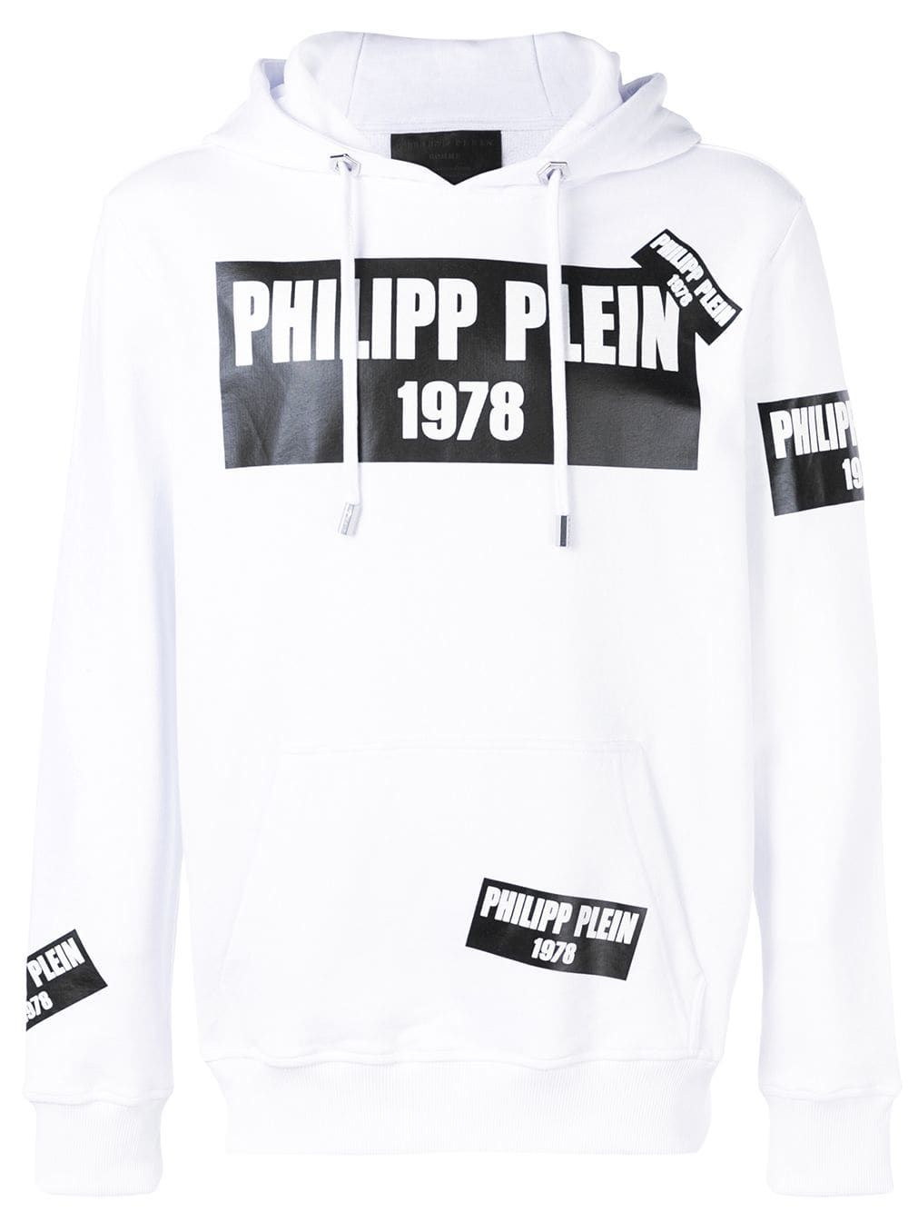 7c3b74d541d Philipp Plein PP1978 logo patch hoodie - White in 2019 | Products ...