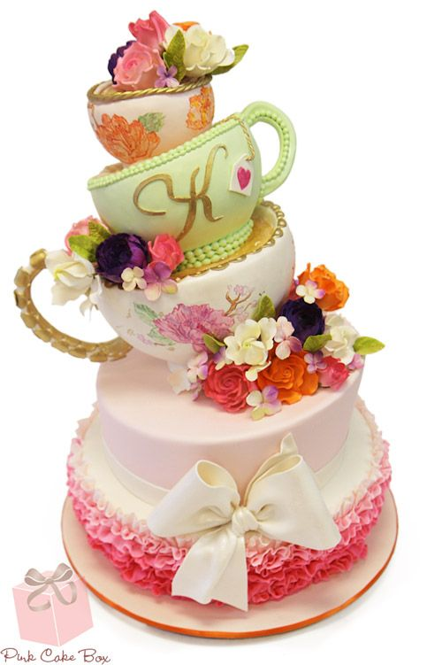 a8cf9022b252 Whimsical Bridal Shower Tea Party Cake » Bridal Shower Cakes