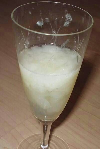 Girl Drinks Cum From Glass Bukkake