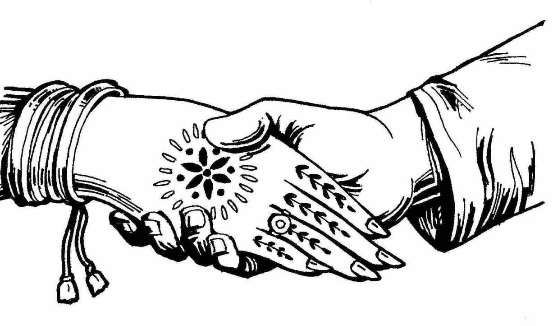 wedding hands clipart black and white | Hindu weddings ...