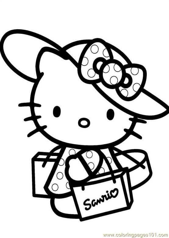 hello+kitty+free+printables | free printable coloring page Hello Kitty (1) (Cartoons > Hello Kitty)