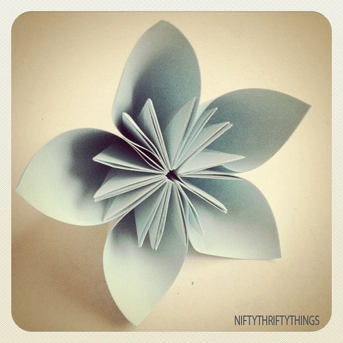 Origami flower origami flower and origami flowers tutorial flowers mightylinksfo