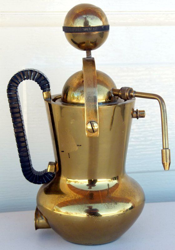 Vintage Brass Espresso Cappuccino Coffee Machine Italy