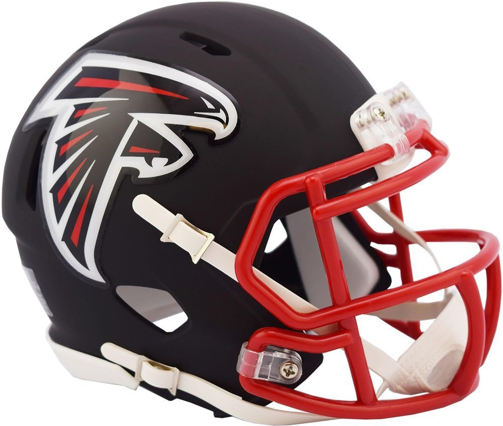 Riddell Atlanta Falcons Black Matte Alternate Speed Mini Football Helmet Mini Football Helmet Football Helmets Football