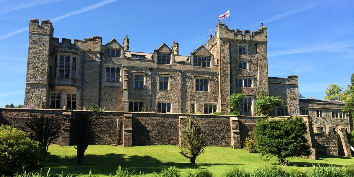 Thurland Castle, Lancashire. Victorian country house on the