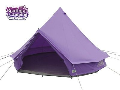 Purple glamping | The Great Purple Outdoors | Bell tent