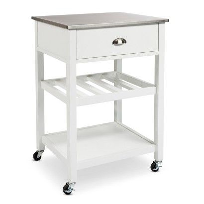 Stainless Steel Top Kitchen Cart 150 Dimensions 34 H X 20 W X