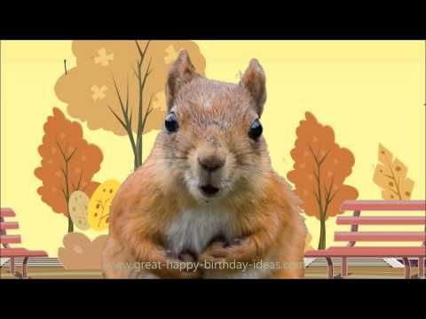 Squirrel sings happy birthday song youtube birthday greetings send the best birthday wish with a sweet birthday ecard greeting to friends and loved ones pic by tomi tapio k bookmarktalkfo Images