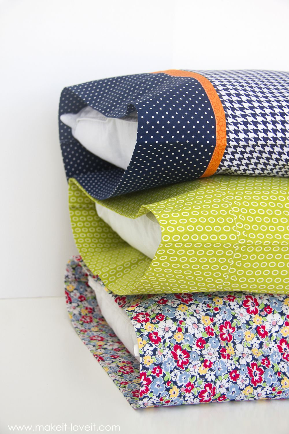 Burrito Style Pillowcase Diy Bed Pillow Cases 3 Sizes And 3 Different Styles Including The
