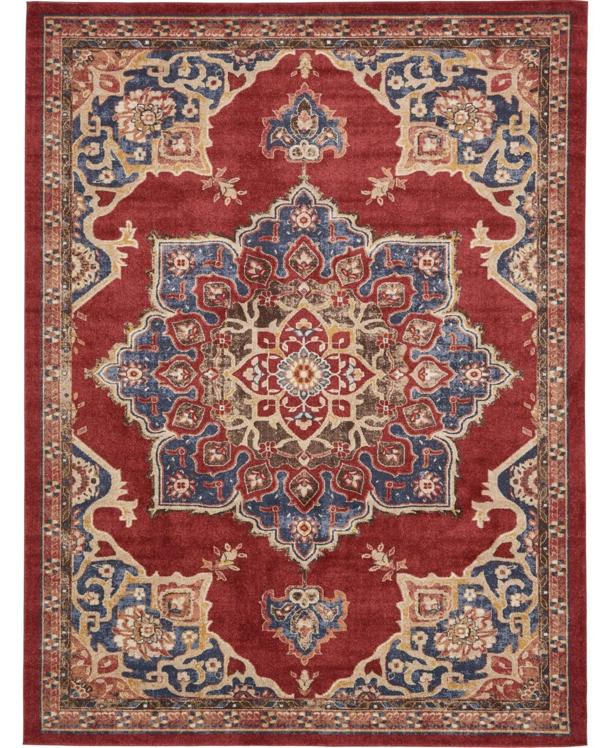 Bridgeport Home Shangri Shg3 Burgundy 9 X 12 Area Rug Burgundy