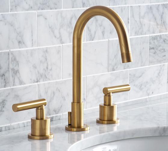 Exton Lever Handle Widespread Bathroom Faucet Antique Brass Finish Brass Bathroom Faucets Widespread Bathroom Faucet Bathroom Faucets