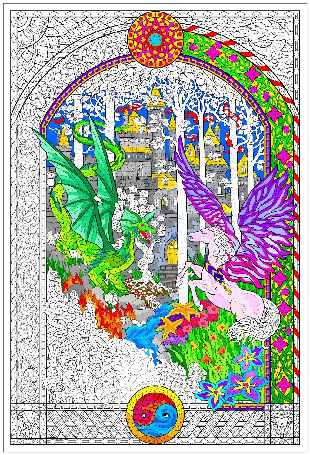 A gorgeous giant coloring page for adults. | Coloring Pages ...