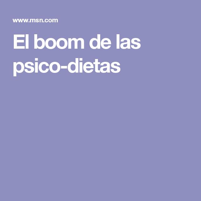 El boom de las psico-dietas
