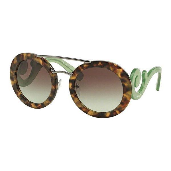 f00837be1c41 ... brown green pr13ss uez4k1 b7e09 22a50  new style prada pr13ss baroque  evolution uez4k1 sunglasses 250 liked on polyvoreu2026 ab0c2 b3aca