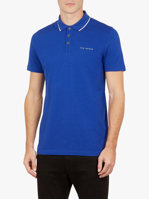 94969f27a701 BuyTed Baker Bloko Branded Pique Polo Shirt
