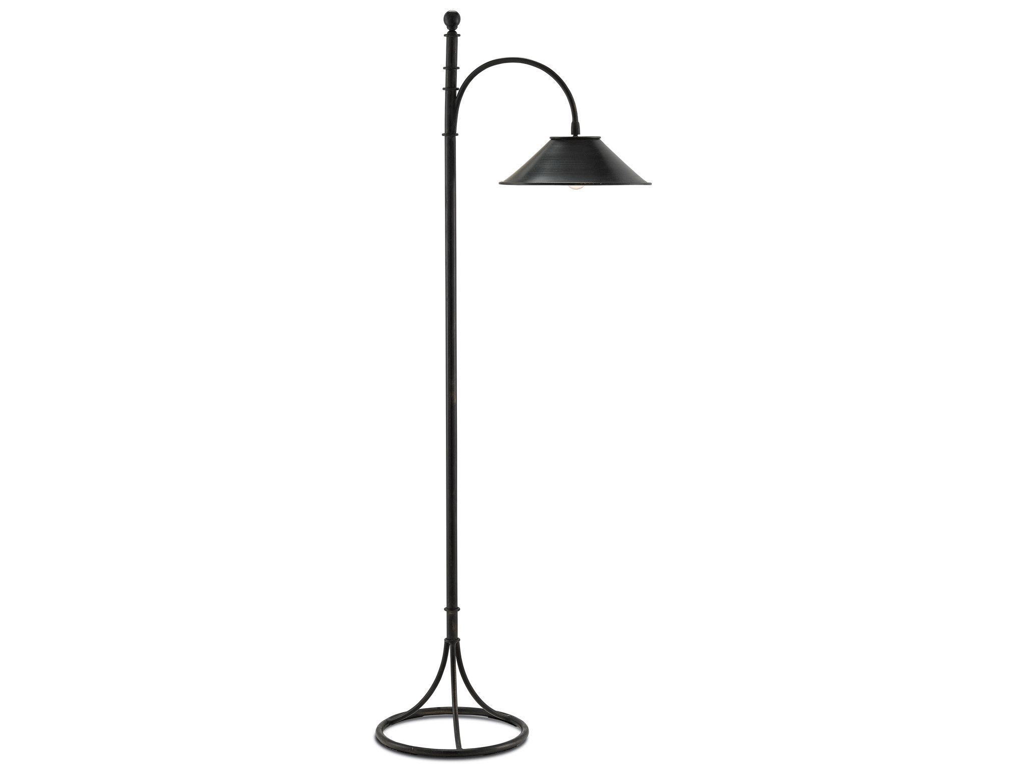 Vermay Floor Lamp In French Black Design By Currey Company Transitional Decor Transitional Chandeliers Transitional Floor Lamps