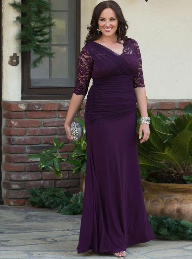 Feature Mother Of The Bride Dresses Long Plus Size With Sleeves Summer