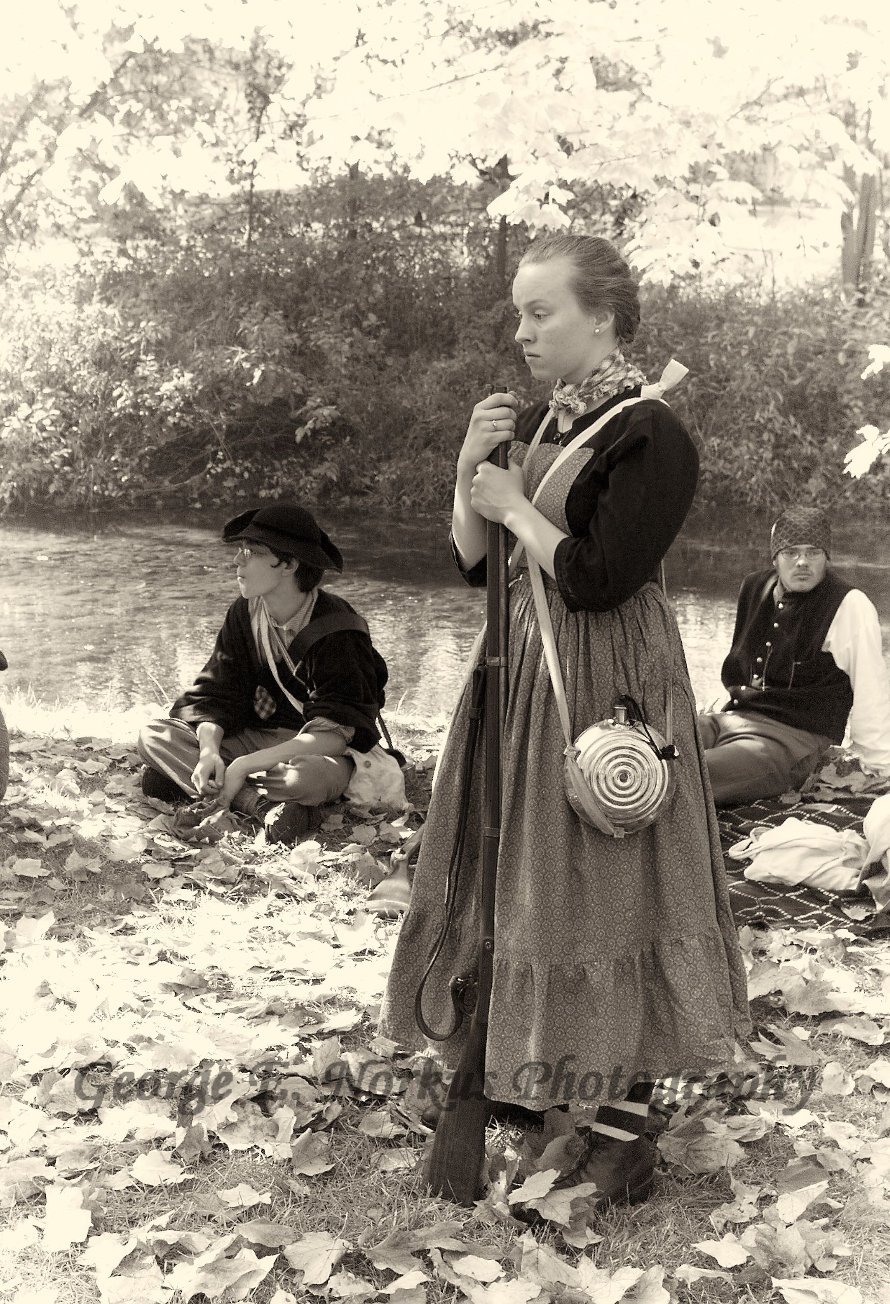 Lady waiting for husband - Civil War Reenactment. by ...