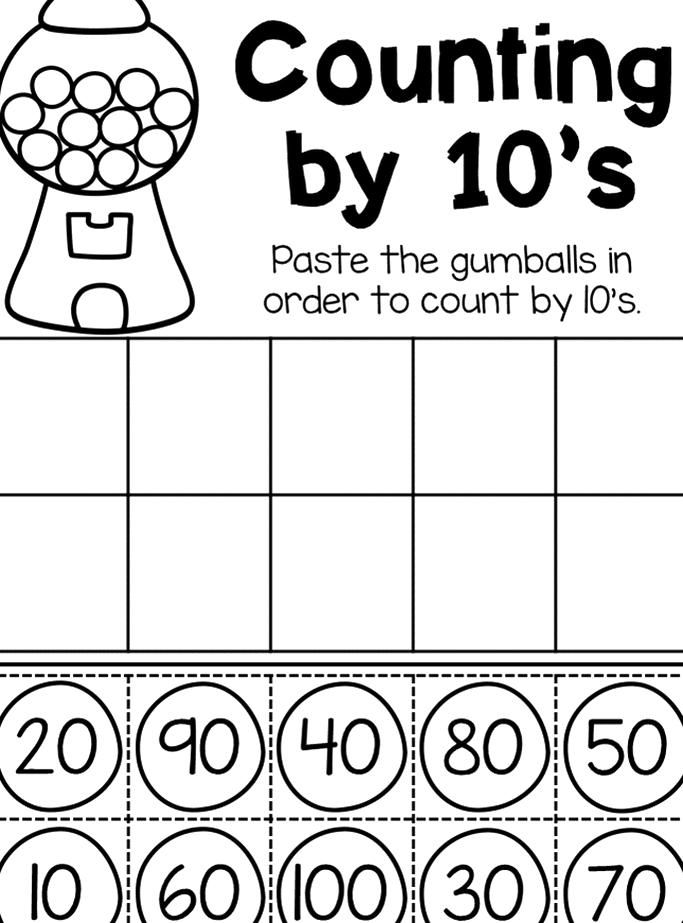Counting By 10s Worksheet Kindergarten Place Value Pack This Packet Is Jammed Full Of Worksheets To Help In 2020 Fast Finisher Activities Base Ten Blocks Tens And Ones