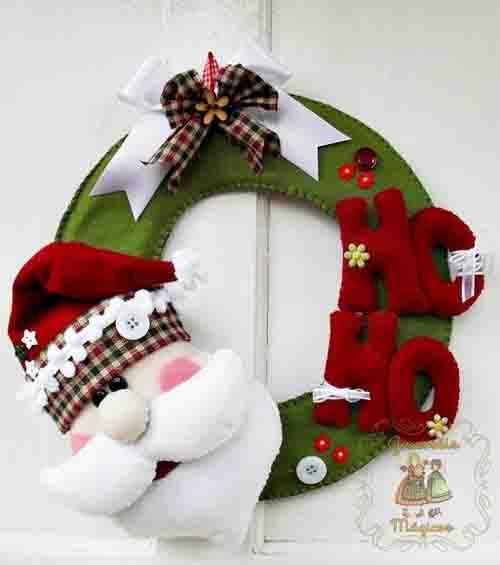 ideas para hacer coronas navideas cojines