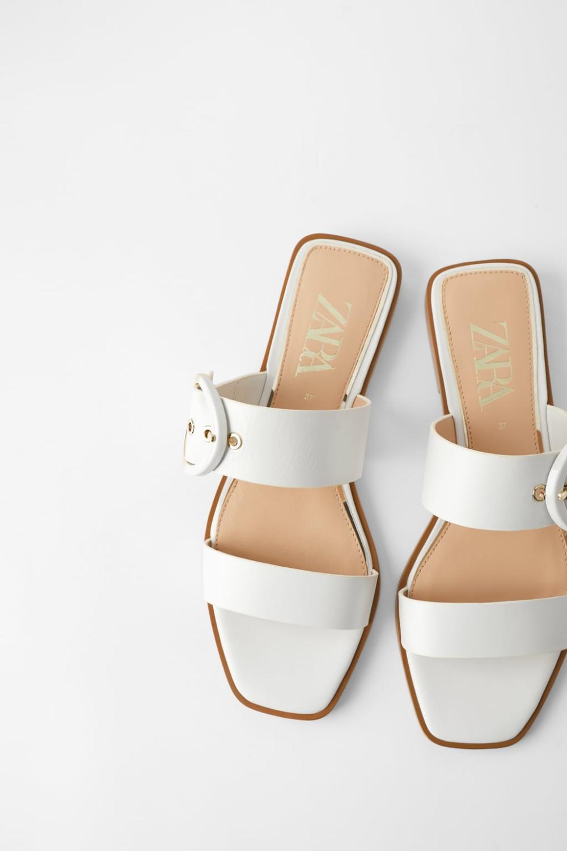 Sandalias Planas Para Mujer Con Hebilla Metálica En Forma De U Zapatos Joffreyballetschool Zapatos Para Mujer