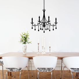 Iola chandelier wall decal in black create in black and white iola chandelier wall decal in black mozeypictures Images