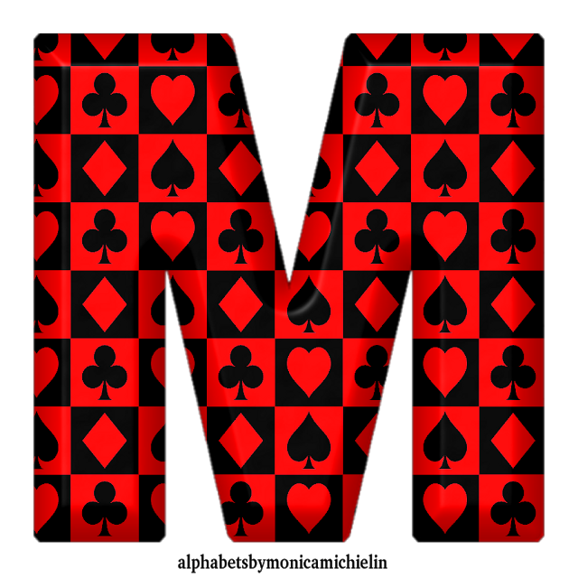 Monica Michielin Alfabetos Red Black Suit Playing Cards Alphabet Numbers Icons Png And Bible Verse Filling Requests Black And Red Black Suits Black