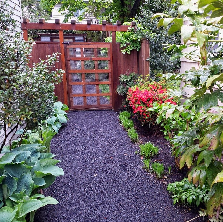Example Of 1 4 Minus Gravel Path Without Edging Patio Garden Backyard Gravel Path