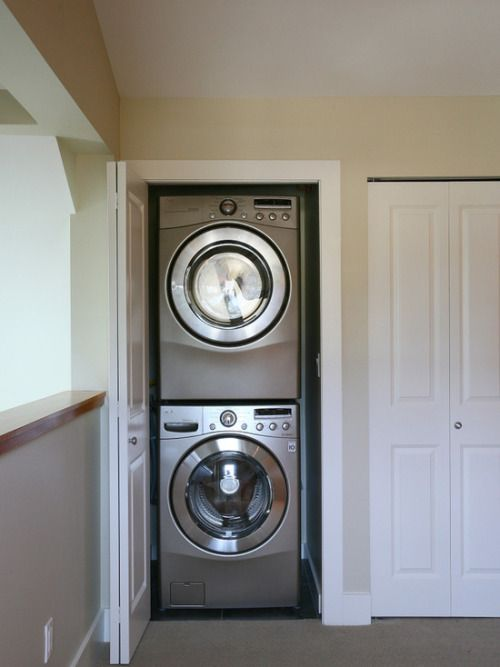 Stacked Full Size Washer And Dryer Great For An Upstairs