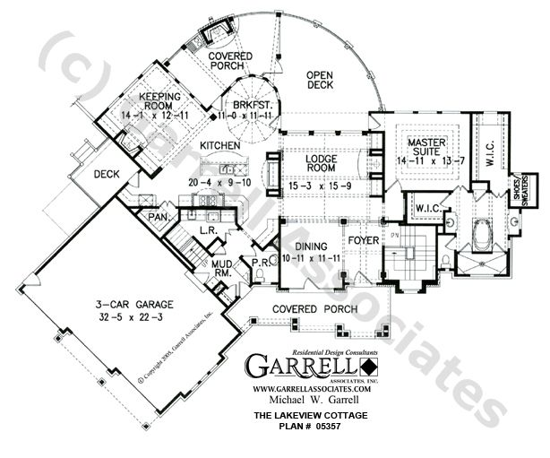 Lakeview Cottage House Plan, 05357, 2129 w/o 2 BRs on main floor ...