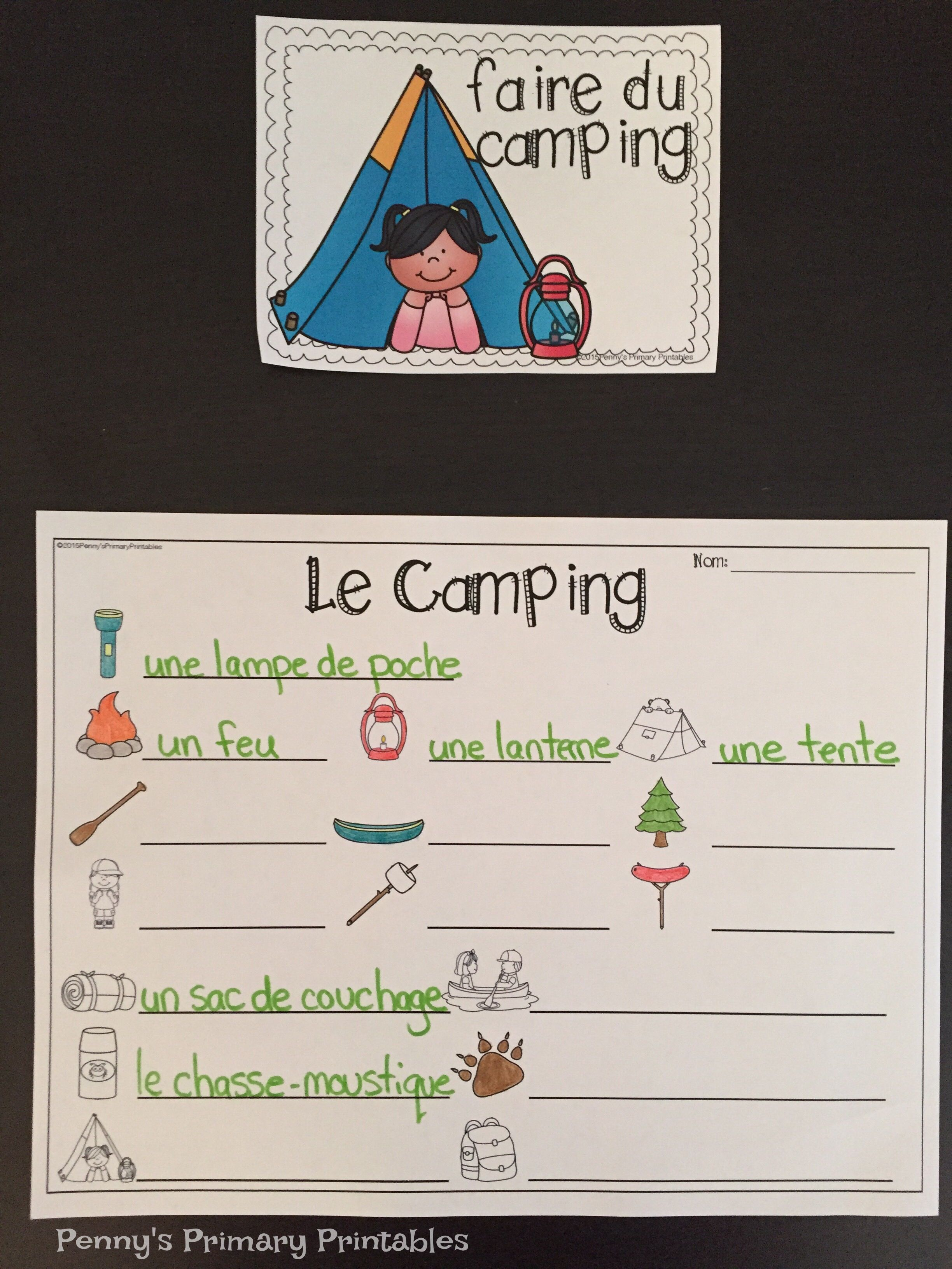 French Camping Write The Room Vocabulary Activities French Activities Word Cards [ 3264 x 2448 Pixel ]