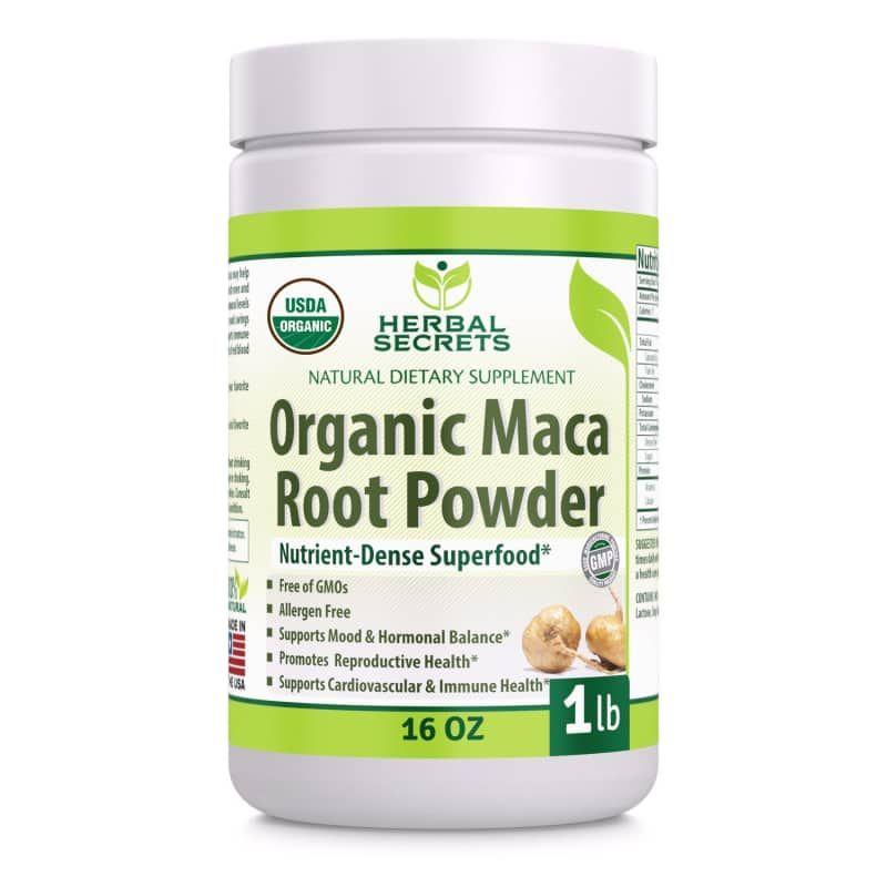 Best Nutrient-Dense Aphrodisiac: Herbal Secrets USDA-Certified Organic Maca Root Powder Maca