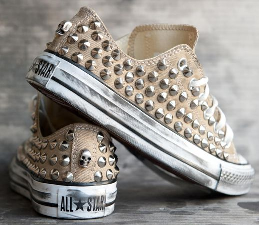 studded converse. | Shoes | Shoes, Studded converse, Fashion