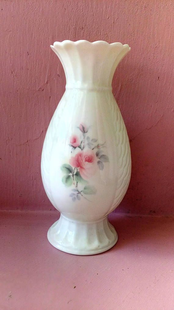 Donegal Ireland Parian China Vase Irish Rose pattern