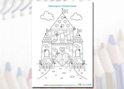 cinderella castle pdf download coloring page #kids | Being ...