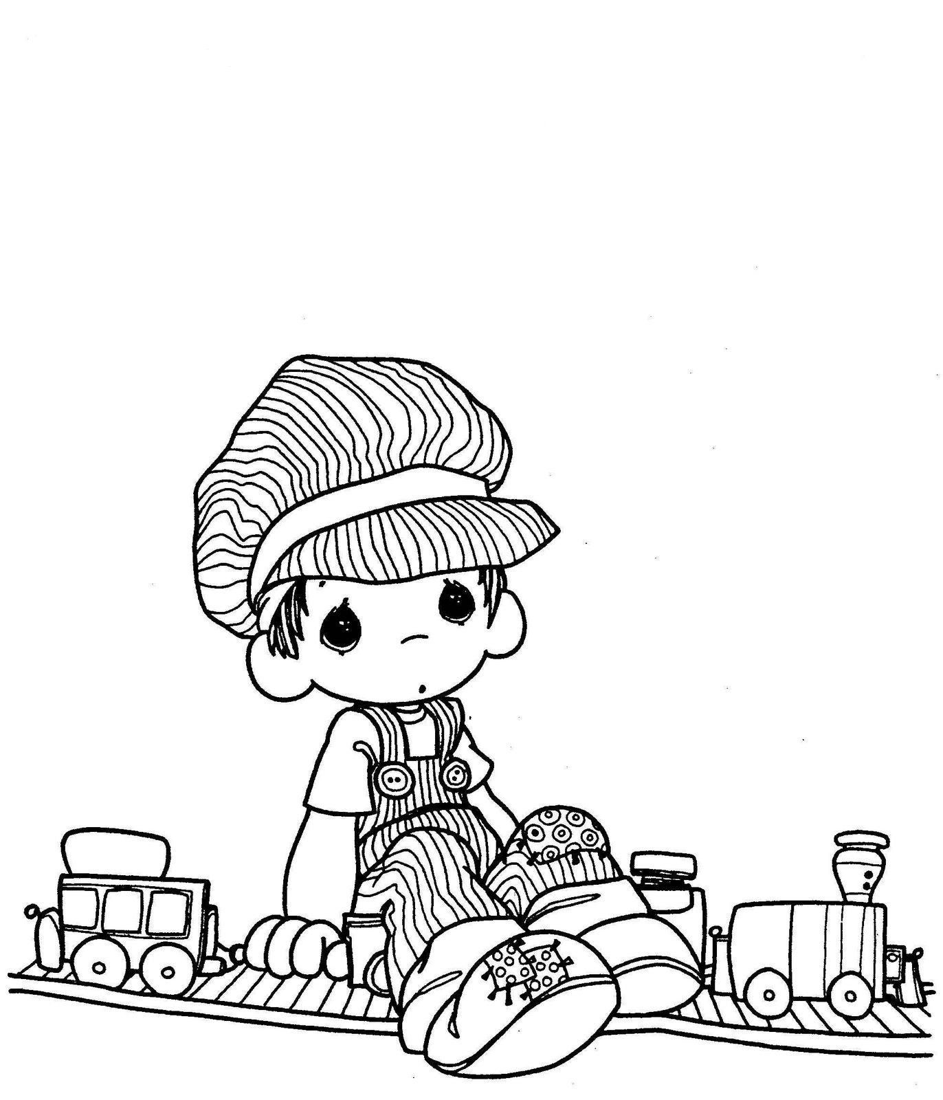 Choo Choo! - Precious Moments coloring pages. | coloring pages ...