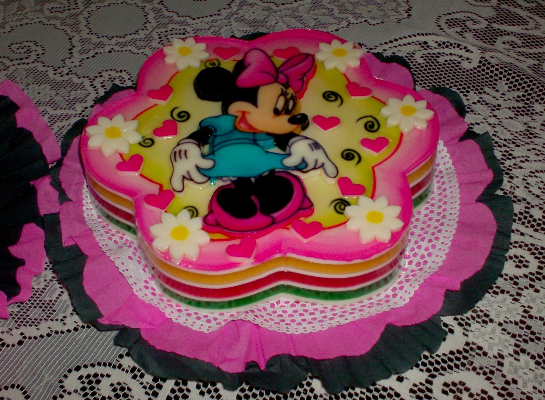 Minnie...pintada | Gelatinas | Pinterest