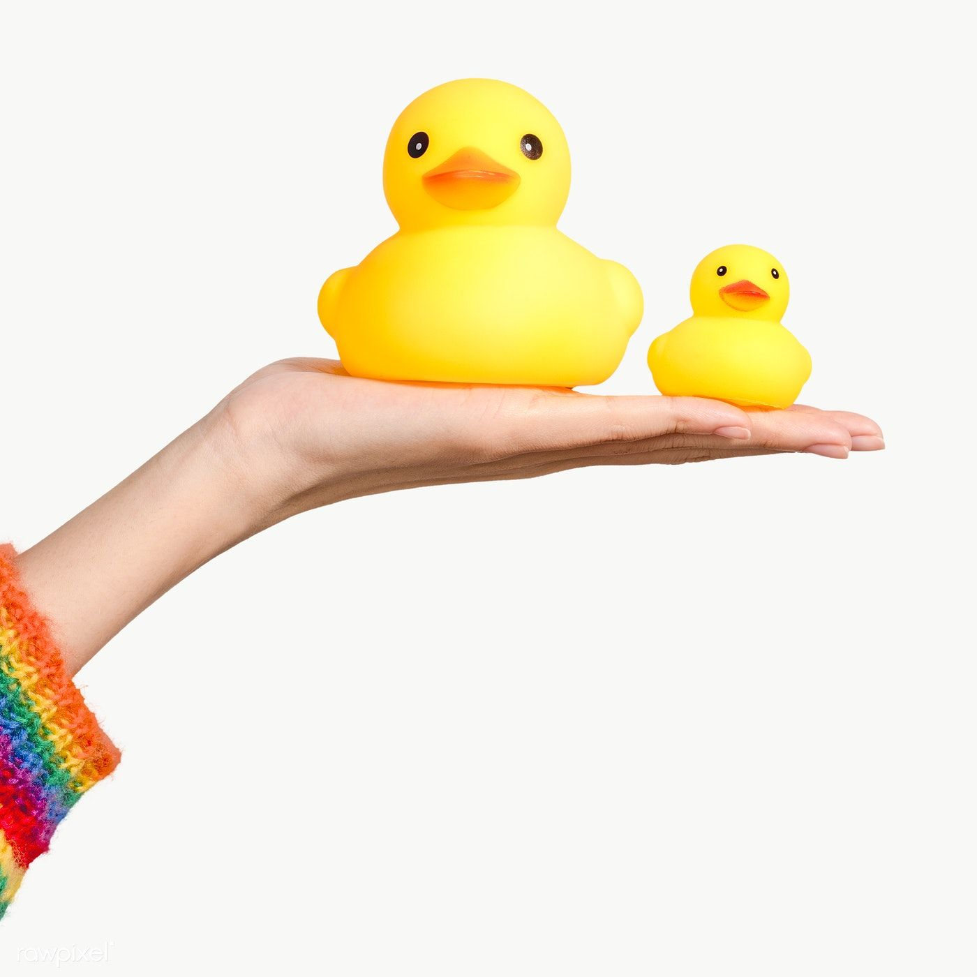 Cute Rubber Ducks On A Hand Design Element Free Image By Rawpixel Com Jira Rubber Duck Design Element Hand Designs