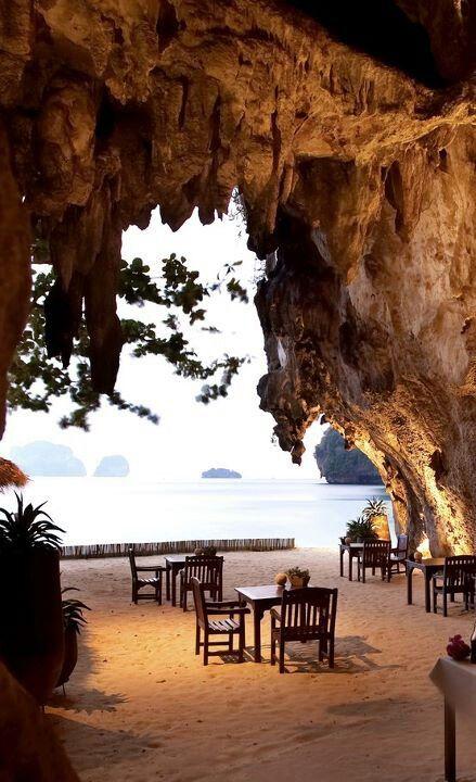 Amazing Cave Restaurant In Thailand