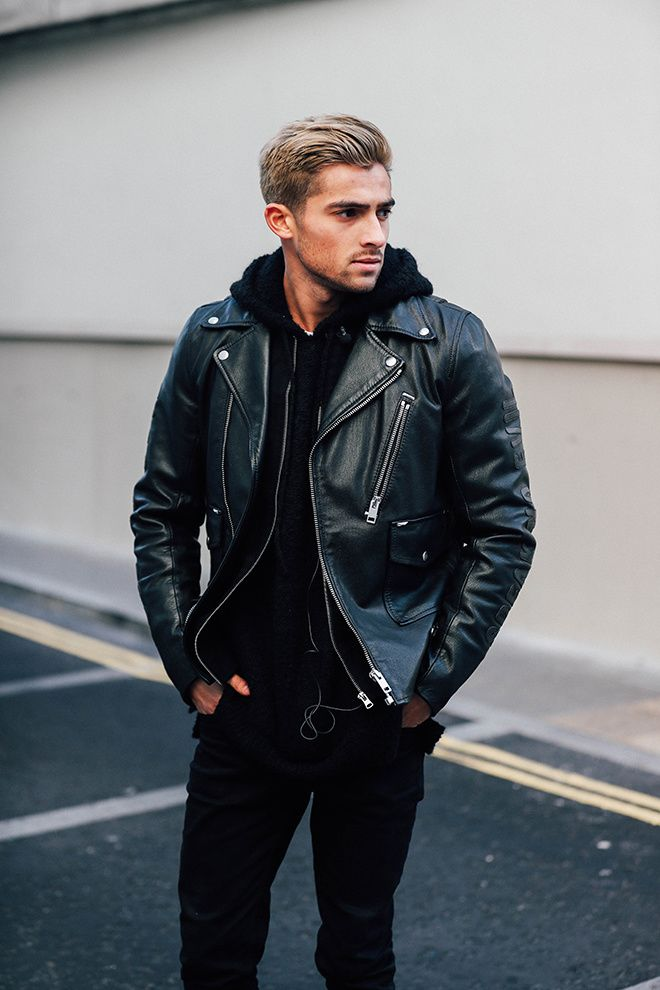 Street Style At London Fashion Week Men 39 S Fall Winter 2017 2018 Leather Jackets Leather And