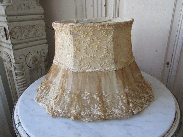 Gorgeous Altered Shabby Chic Lamp Shade Ile Ilgili Gorsel