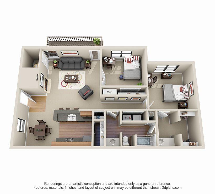 2 Bed 1 Bath Apartment In Decatur Ga Guest House Plans Sims House Design Floor Plans