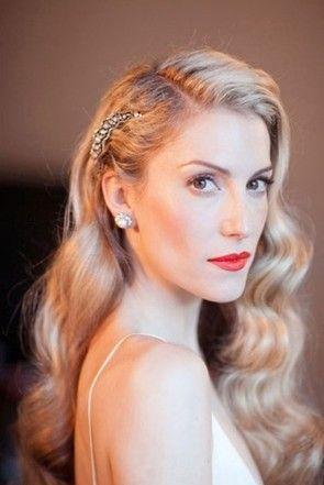 Simple Long Brides Maid Hair | Wedding hairstyles for long hair, Hot hair styles, Vintage hairstyles