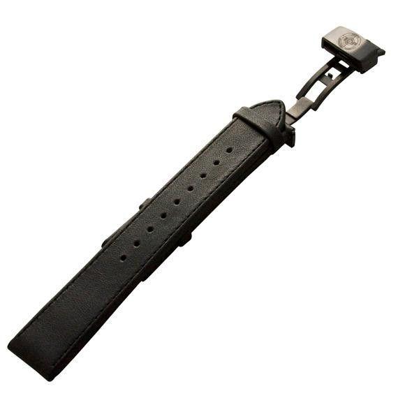 Leather Strap, IP Black Hardware, Black