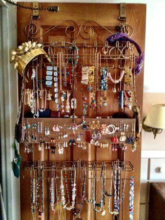 Amazoncom Overdoor Wall Longstem Jewelry Organizer Valet Bronze