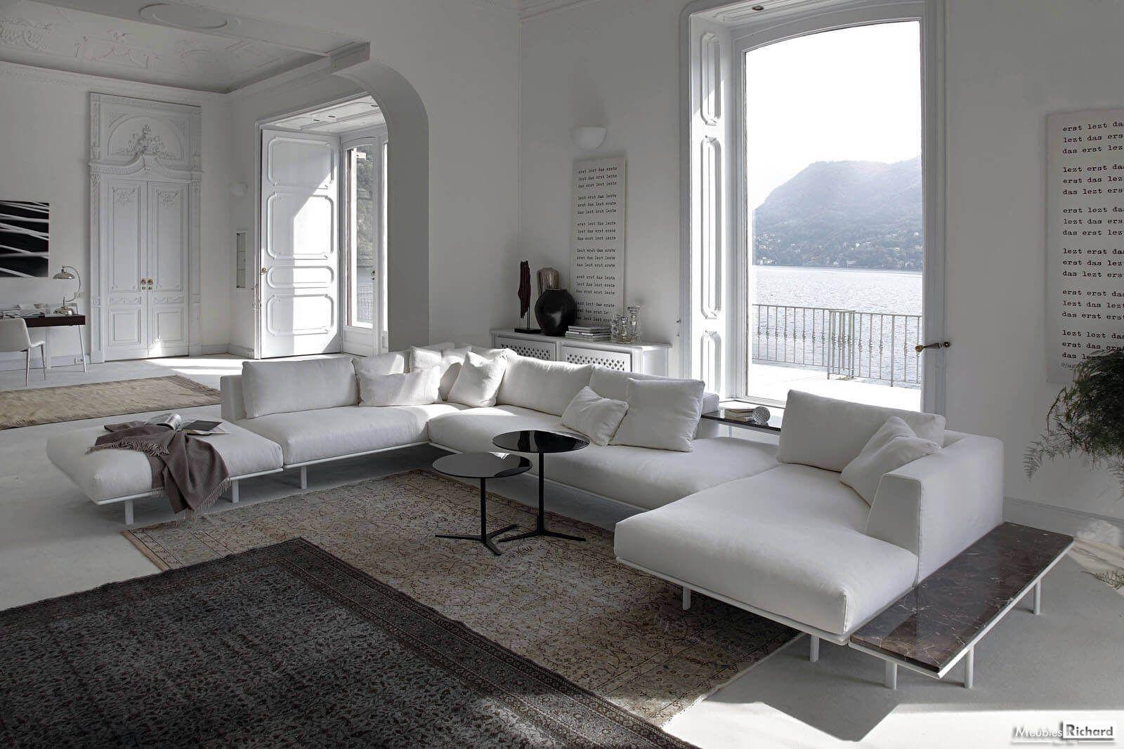 Canape Avec Meridienne Blanc Tendance Sofa Home Fabric Sofa Design Sofa Design