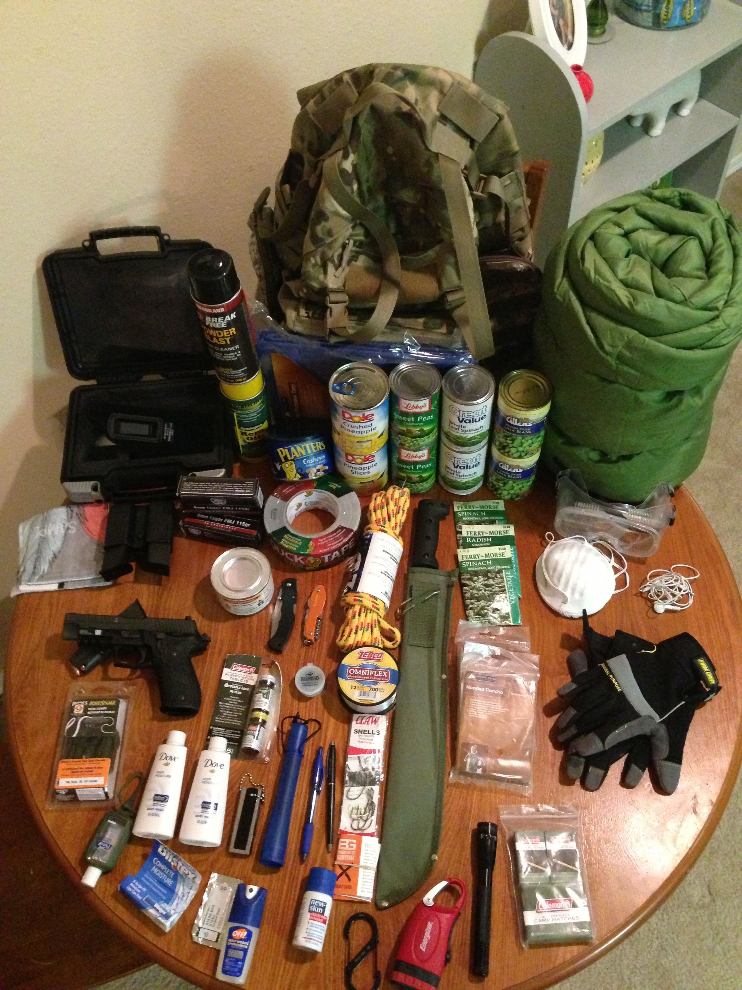My Current Bug Out Bag Contents Bug Out Bag Contents 1 Roll Of Max Strength Duct Tape 1 Rope Of 3 8 X25 Braid Bug Out Bag Bug Out Bag Contents Bug Out Kit