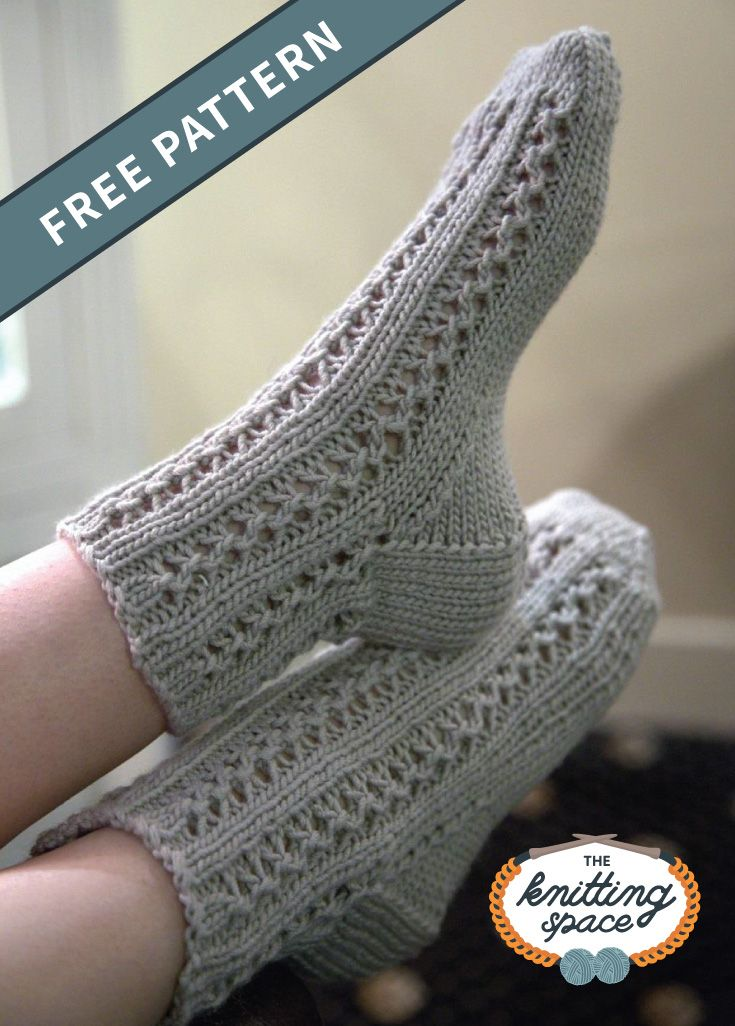 Comfortable Knitted Lace Bed Socks [FREE Knitting Pattern ...