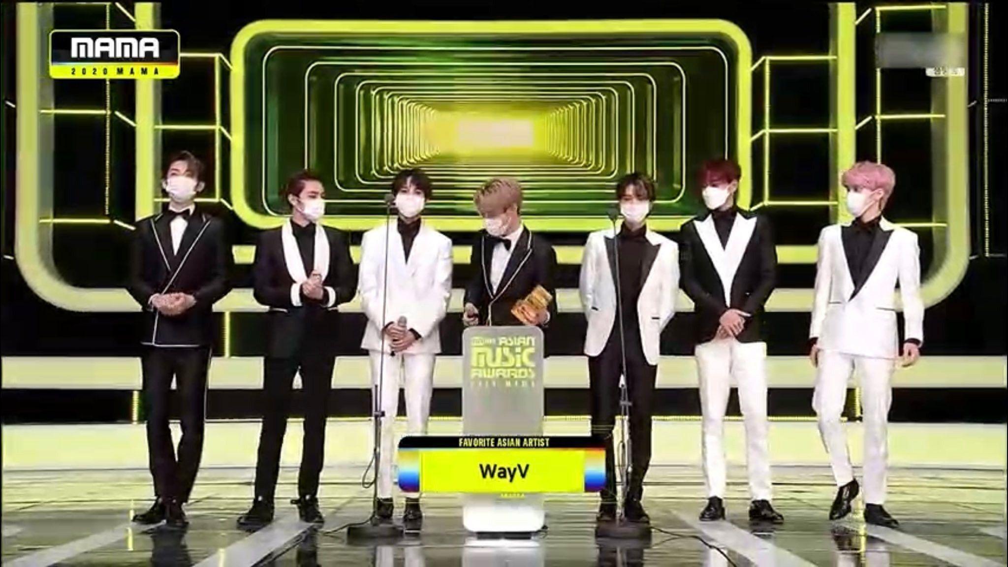 Wayv Winning The Favorite Asian Artist Award At The 2020 Mnet Asian Music Awards Mama Di 2020