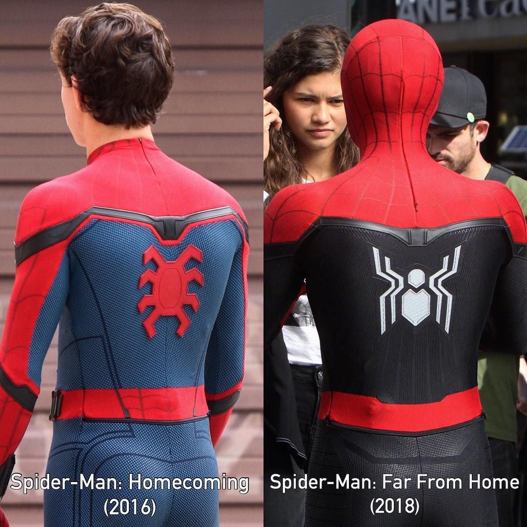 i don't like that they're making his suit red and black. those are